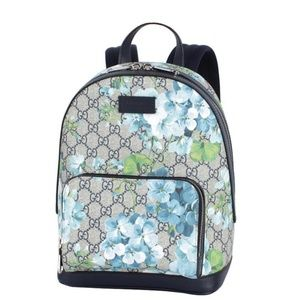 Gucci Blue GG Supreme Coated Canvas Bloom Backpack